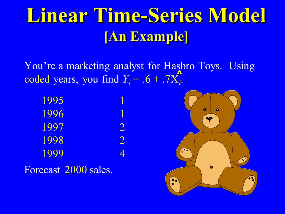Linear Time-Series Model [An Example]